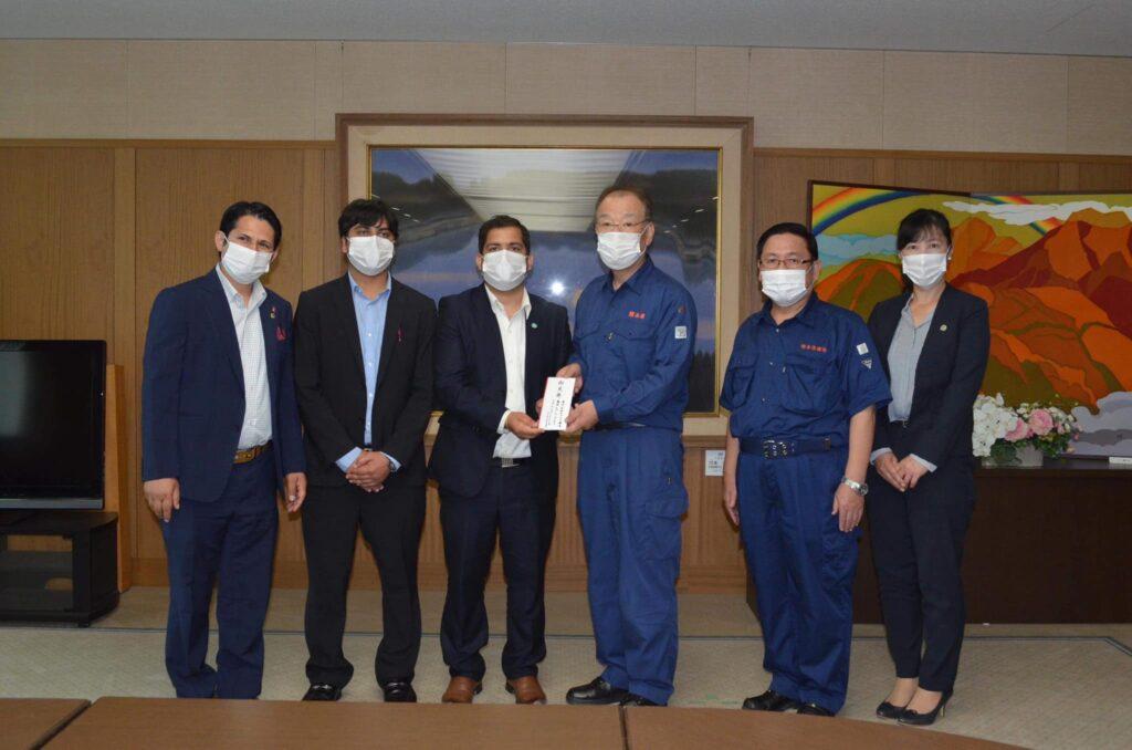 कुमामोतो क्षेत्रमा फुकुओकामा रहेका सामाजिक संघसंस्थाद्वारा संयुक्त रुपमा आर्थिक सहयोग